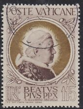 #148 Vatican City, Pope Pius X, 115L Issue of 1951 Used, CV $22.50