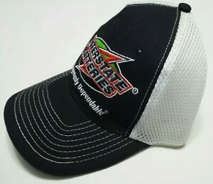 Interstate Batteries NASCAR Racing Cap - Soft Mesh Bent Bill Trucker Hat - S/L