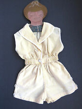 Toddler 2 Piece Sunsuit by Gaylor Size S to M Yellow White Stripe Seersucker