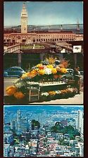 G27 San Francisco 3 Pcs. Feery Building, Flower Stand, Crookedest St. Unused