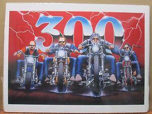 Vintage David Mann 300 Motorcycle Poster E28