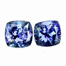 Cushion Transparent Loose Tanzanites