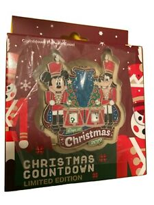 Disney Christmas Countdown Mini Jumbo Pin Mickey Goofy Toy Soldier