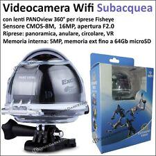 VIDEOCAMERA SUBACQUEA WIFI GRANDANGOLO PANO CAMERA 360 16MP WIFI PANORAMICA