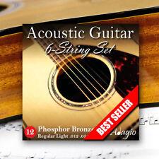 Adagio Pro Acoustic Guitar Strings Gauge 12-52 Phosphor Bronze
