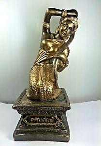 "9.5"" LEK NAM PEE PHRA MAE THORANI MOTHER EARTH BUDDHA STATUE FETISH THAI AMULET"