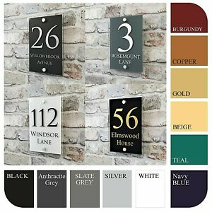 Personalised House Sign Plaques & Door Numbers Contemporary Address Name Plates