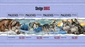 Maldives - 2018 Sledge Dogs on Stamps - 4 Stamp Sheet - MLD18303a