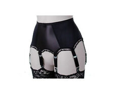 Retro Style 6 Strap Suspender Belts in Black or White.  Sizes 10 - 22