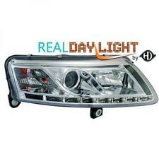 LHD Projecteur LED DRL Phare avant Paire Transparent Chrome H7 H1 pour Audi A6
