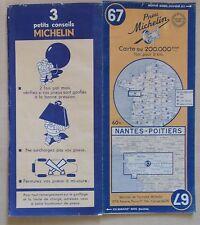 #) carte MICHELIN 67 NANTES - POITIERS 1948