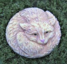 """Cat plastic mold 8"""" x up to 3/4"""" thick plaster cement mould"""