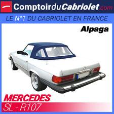 Capote pour Mercedes SL R107 cabriolet - Toile Alpaga Sonnenland bleu/noir