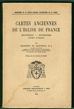 Cartes Ancienes de l'Eglise de France, Historique, Répertoire, Dainville, 1956