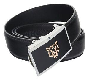 QHA Mens Designer Automatic Tiger Belt Luxury Ratchet Vintage Auto Buckle Gift