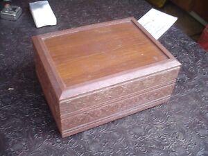 Vintage Deco-Tel Personal Landline Telephone in Wood Box