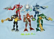 All 6 Lego Bionicle PIRAKA (8900-8905) with Light-Up Eyes and Zamor Spheres