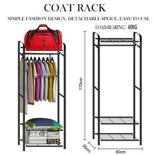 Garment Rack Storage Clothes Rail Stand Metal Coat Stand Shoe Rack Storage 170cm