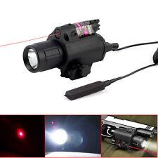 2 in 1 Tactical Red Laser Q5 LED Flashlight Torch Light For Pistol Handgun