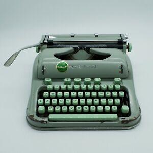 Vintage 1960s Hermes 3000 Typewriter Seafoam Green.