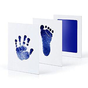 2pcs Baby Paw Print Pad Foot Touch Ink Pad Newborn Souvenir Gift Handprint Stamp