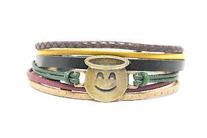 Emoji Bracelet Smiling Face With Halo Handmade
