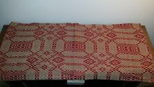 """Cranberry Red Oakdale Weave Short Table Runner - 14""""X32"""", Colonial, Pine Creek"""