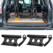 2Pcs Alloy Car Roof Bike Rack  SUV Holder Transport Wheel Fork Block