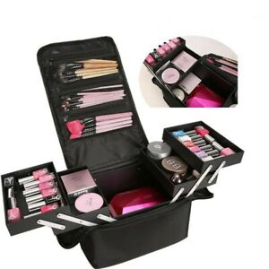 Large Beauty Make Up Nail Tech Cosmetic Box Artist Vanity Case Storage Bag Salon