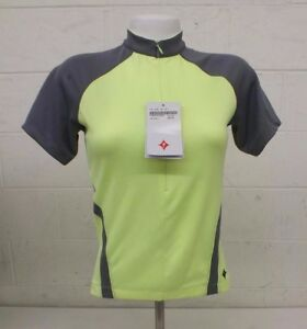 Specialized Mira Ion Yellow & Gray Cycling Bike Jersey Women's Small NEW LOOK
