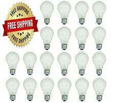 60 Watt Incandescent Light Bulbs A19 Soft White 600 Lumens - 20 Bulbs