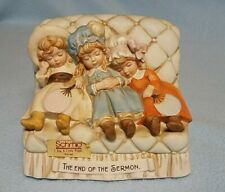 "Vintage Schmid Music Box - 3 Little Girls ""The End Of The Sermon Sleeping"""