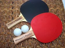Personalized Ping Pong Paddles for 2 players Set of 2 w/2 white ping pong balls