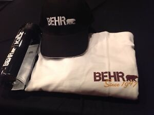BEHR Paint Gift Package - T shirt, Hat, Waterbottle