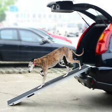 "72"" Folding Pet Ramp Portable Dog Ladder Pet Travel Gear Vehicle Car Truck"