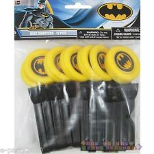 BATMAN DISC SHOOTERS (12) ~ Birthday Party Supplies Favors Launchers Toys DC
