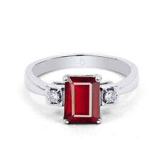 Emerald Ruby White Gold 18 Carat Fine Rings