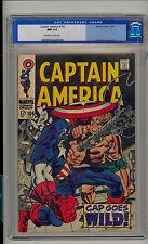 Captain America #106 CGC 9.4 NM Unrestored Marvel OFF-WHITE/WHITE Pgs Old Label