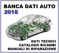 BANCA DATI 2018 Database manuali riparazione tempario officina ricambi AUTO DATA