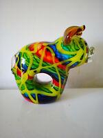 Murano Glasobjekt Schwein wohl by Dino Martens L 16 H 14 B 7 cm 1,7 kg