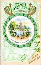 1910 Ross Castle Killarney Erin Go Bragh St Patricks Day March 17 Postcard BW