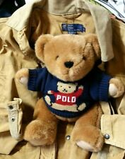 Vintage POLO Ralph Lauren Plush Teddy Bear 1997 Trademark Polo Sweater