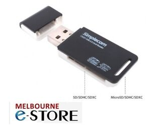 Simplecom CR201 Hi-Speed USB 2.0 2 slot Card Reader SDHC SDXC / Micro SD