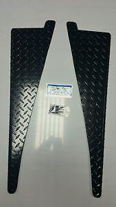"JEEP CJ7 CJ5 CJ8 Scrambler DIAMOND PLATE FENDER TOP COVERS 45° bend 1/2"" BLACK"