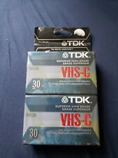 TDK VHS-C 30 Min Camcorder Video Cassette Tapes 2 Pack