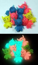 Glow-in-the-Dark School Erasers - MONSTERS - Glowing Kids Eraser Set ~ Anime