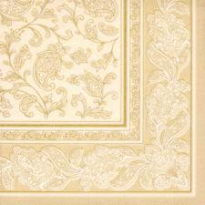 50 PAPSTAR Royal Collection Ornament Servietten Champagner 40x40 Cm Hochzeit