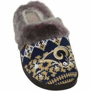 NEW NFL Los Angeles Rams Slide Slippers Women Size Small 5 Forever Collectibles