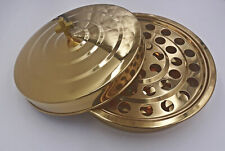 """Golden Stainless Steel Communion Tray and Lid Holds 40cups,310mm/12.2"""""""