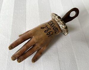 Ex voto main en bois reliquaire 1867 ancienne sculpture XIXè curiosité église